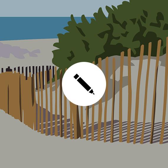GRAPHISME Beach barriers