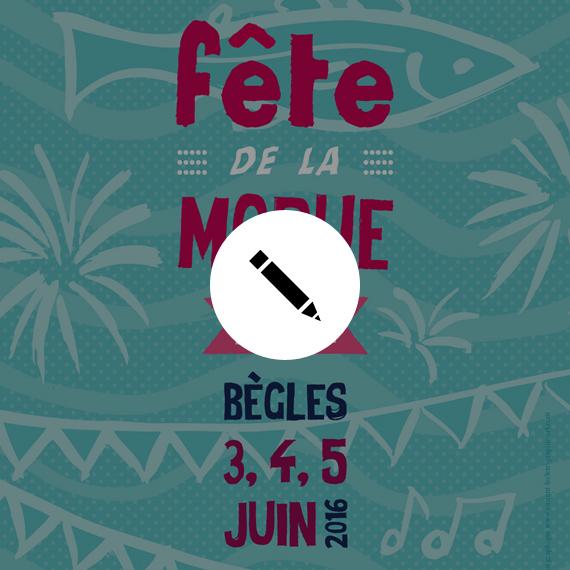 """<span style=""""color: #ff7bac;"""">GRAPHISME</span> <br /> Affiche Fête de la Morue"""