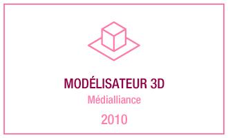 Vincent Leclerc, modélisateur 3D - Médialliance, 2010