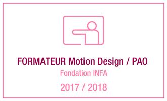 Vincent Leclerc, formateur Motion Design - PAO, fondation INFA, 2017 - 2018