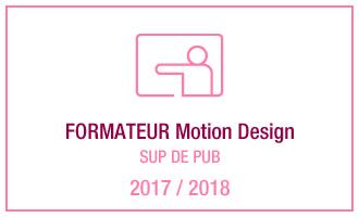 Vincent Leclerc, formateur Motion Design, SUP DE PUB, 2017 - 2018