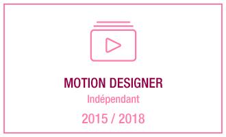Vincent Leclerc, motion designer indépendant, 2015 - 2018