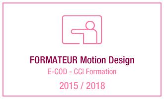 Vincent Leclerc, formateur Motion Design, E-COD - CCI Formation, 2015-2018