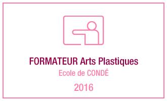 Vincent Leclerc, formateur Arts-Plastiques, Ecole de Condé, 2016