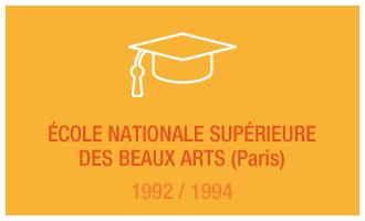 Formation Vincent Leclerc : École Nationale Supérieure Des Beaux Arts (Paris), 1992 - 1994