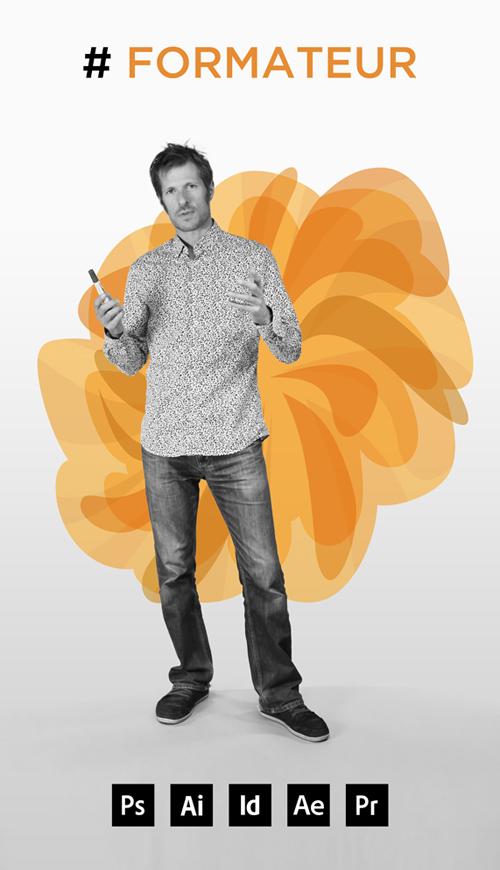 Vincent Leclerc, formateur : Photoshop, Illustrator, InDesign, After Effects, Premiere Pro